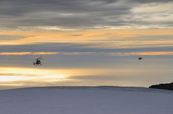 Fox Glacier Helicopters by Mark  Allen
