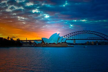 The Sydney Three - Sydney Harbour, Bridge and Opera House, Australia  by Mark Richards