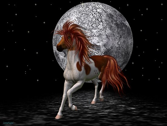 Stallion by the light of the moon by LoneAngel