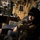 In The Basement, The Smoke Curls Around Her Mouth 01 by Colin Tobin