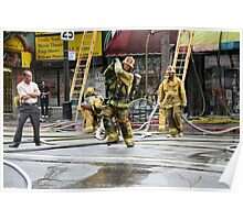 Working Fire Fighters Poster