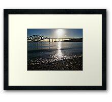 From Beach to Bridge Framed Print