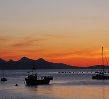 Dusk at Glenuig. by John Cameron