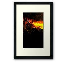 Blood of the Night. Framed Print