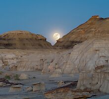 Full Moon in the Bisti by Mitchell Tillison