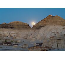 Full Moon in the Bisti Photographic Print
