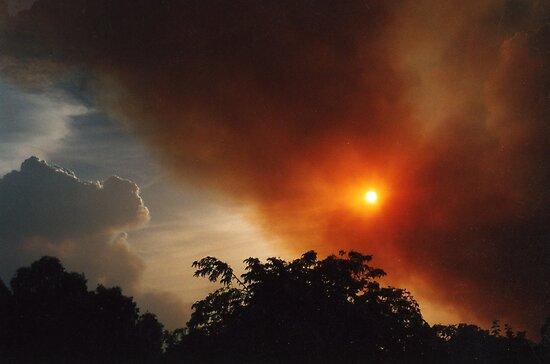 Fire sky by Deirdreb