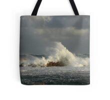 Rough seas at West Point on the far nor west Coast of Tasmania , Australia Tote Bag