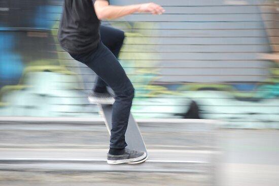 Skater blur by Xavier Russo