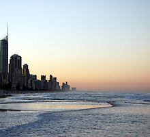 Surfers Paradise Sunset by MickDee