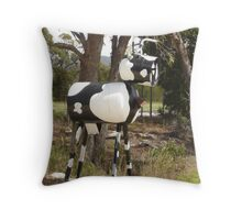 Cow Mail Throw Pillow