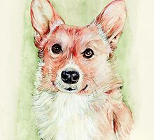 Queen Elizabeths Corgi by morgansartworld