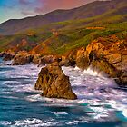 Big Sur Sunset by photosbyflood