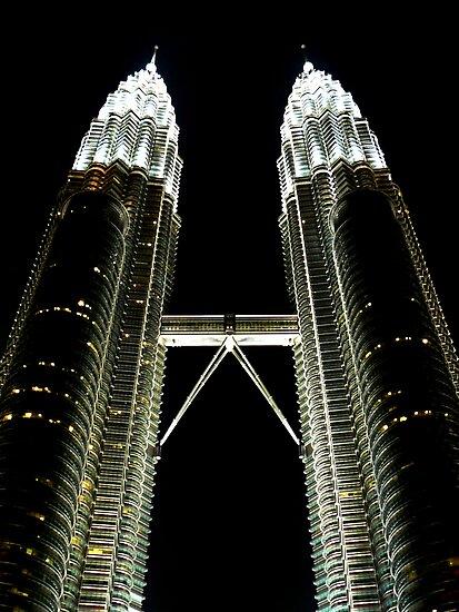 Reach for the Stars.... Petronas Towers, Kuala Lumpur by Tamara Travers
