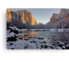 Yosemite Valley Winter 2009 Canvas Print