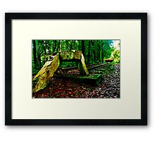 """""""The End Of The Line"""" Framed Print"""