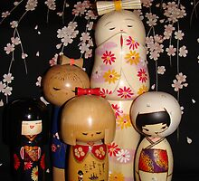 Bashful Kokeshi Japanese Dolls by Linda Scott