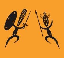 Dancing African Warriors by jean-louis bouzou