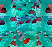 chairs inverted by Soxy Fleming