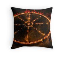 Dharma Wheel Puja Throw Pillow