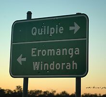 QUILPIE SIGN BULLETED © by Vicki Ferrari