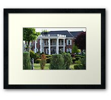 Conway Twitty Mansion - Henderson, Tennessee Framed Print