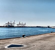 Fremantle Harbour from the Maritime museum by Adrian Kent