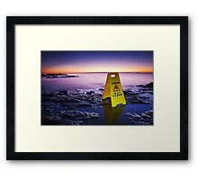 The Janitor at the End of the World Framed Print