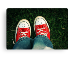 Shoes With Smiles Canvas Print
