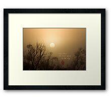 Early Dawn Framed Print