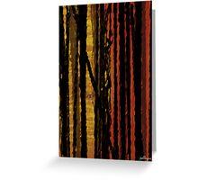 VISION THRU TREES Greeting Card