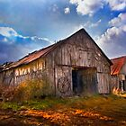 """""""Old Barns With Storm Rolling In"""" by Melinda Stewart Page"""