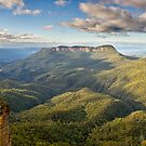 Jamison Valley Panorama. by Andrew Bosman