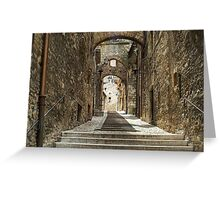 Narni - Cobbled Alley Greeting Card