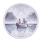 """Missouri Quarter"" Mint Design Watercolor by Paul Jackson"