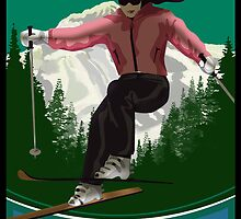 Mt hood Skier  by Randall Paul