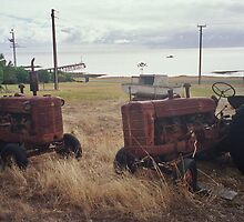 Dueling Tractors by Steve Page