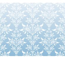 Blue decorative ornament Photographic Print