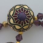 Enamelled Purple Bead by Erica Long