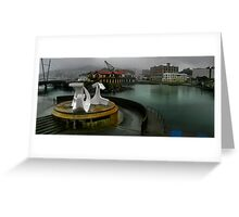 Rain on the Waterfront Greeting Card