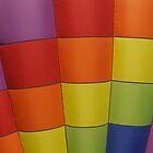 Multicolored Hot air balloon by Luann wilslef