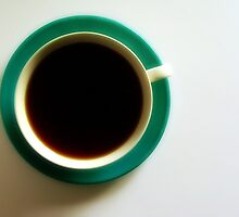 Black Coffee - Green Plate by RobertCharles