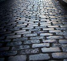 Cobbled street, Montmartre by Karen Scrimes