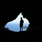 Gary in Twin Goat's Cave, Gibraltar by cyberhippy