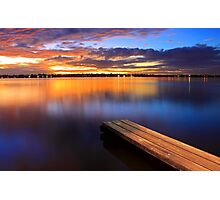 Swan River Jetty - Western Australia  Photographic Print