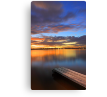 Swan River Jetty At Sunset  Canvas Print
