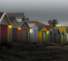 Beach Shacks  by Rukshan Fernando