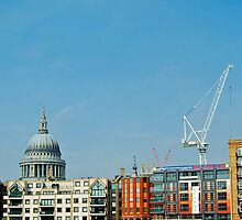 St Pauls, cloud and crane by woolleyfir