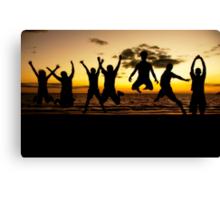 Sunset Jump Canvas Print