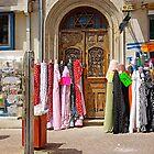 colorful fabrics by Zal Lazkowicz